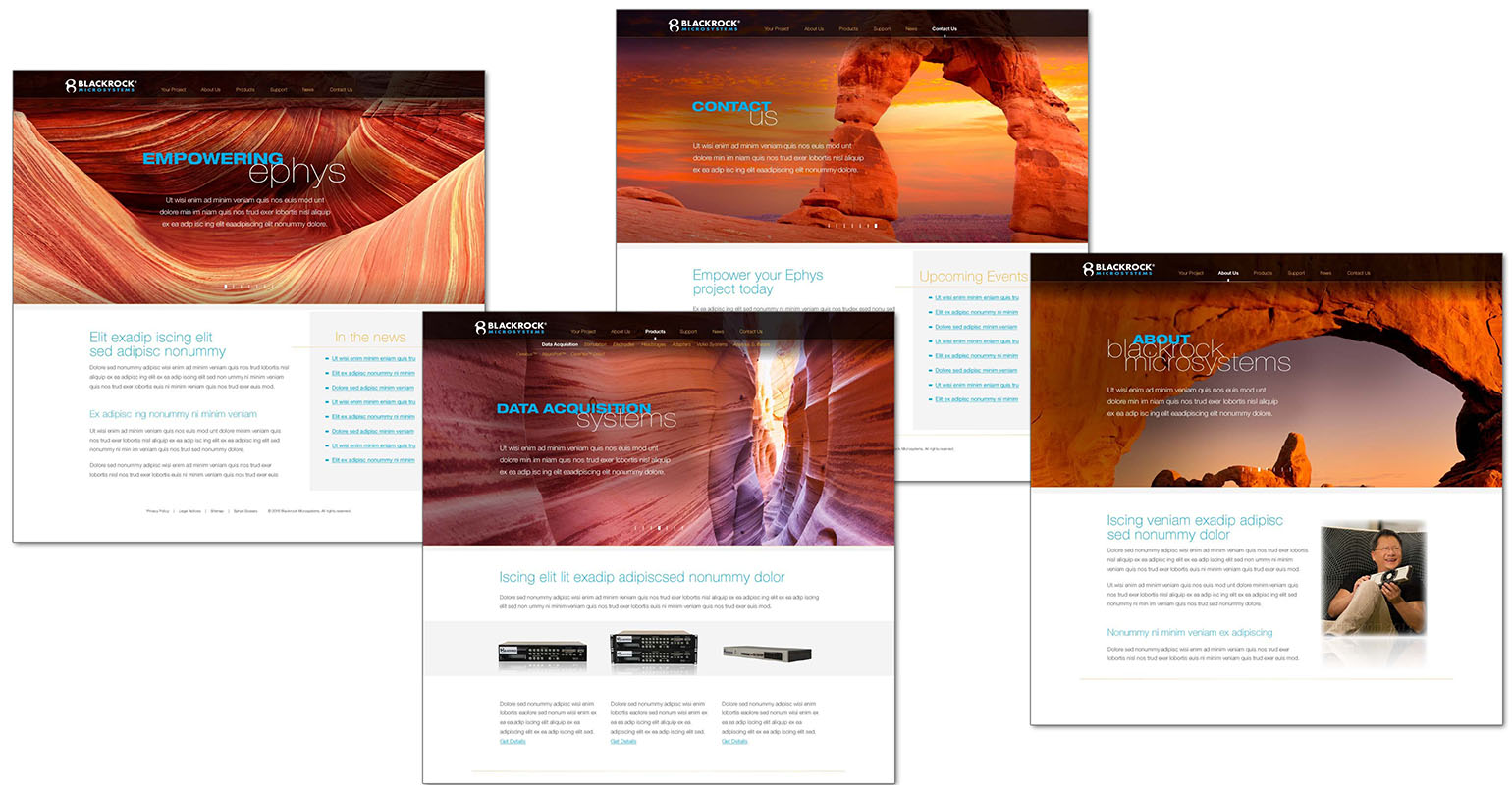 website design created for Blackrock Microsystems by airt group